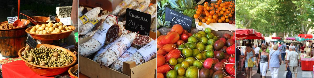 Marché de Bedoin produits régionaux