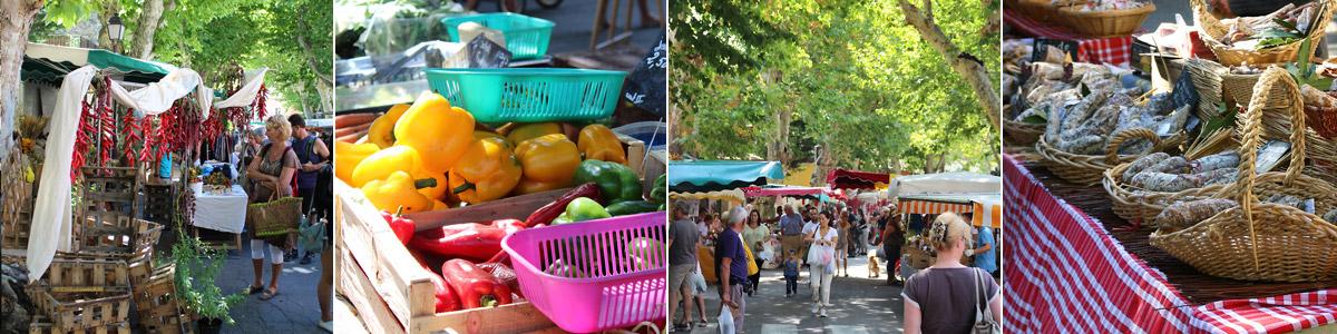 Marché provençal de Bedoin