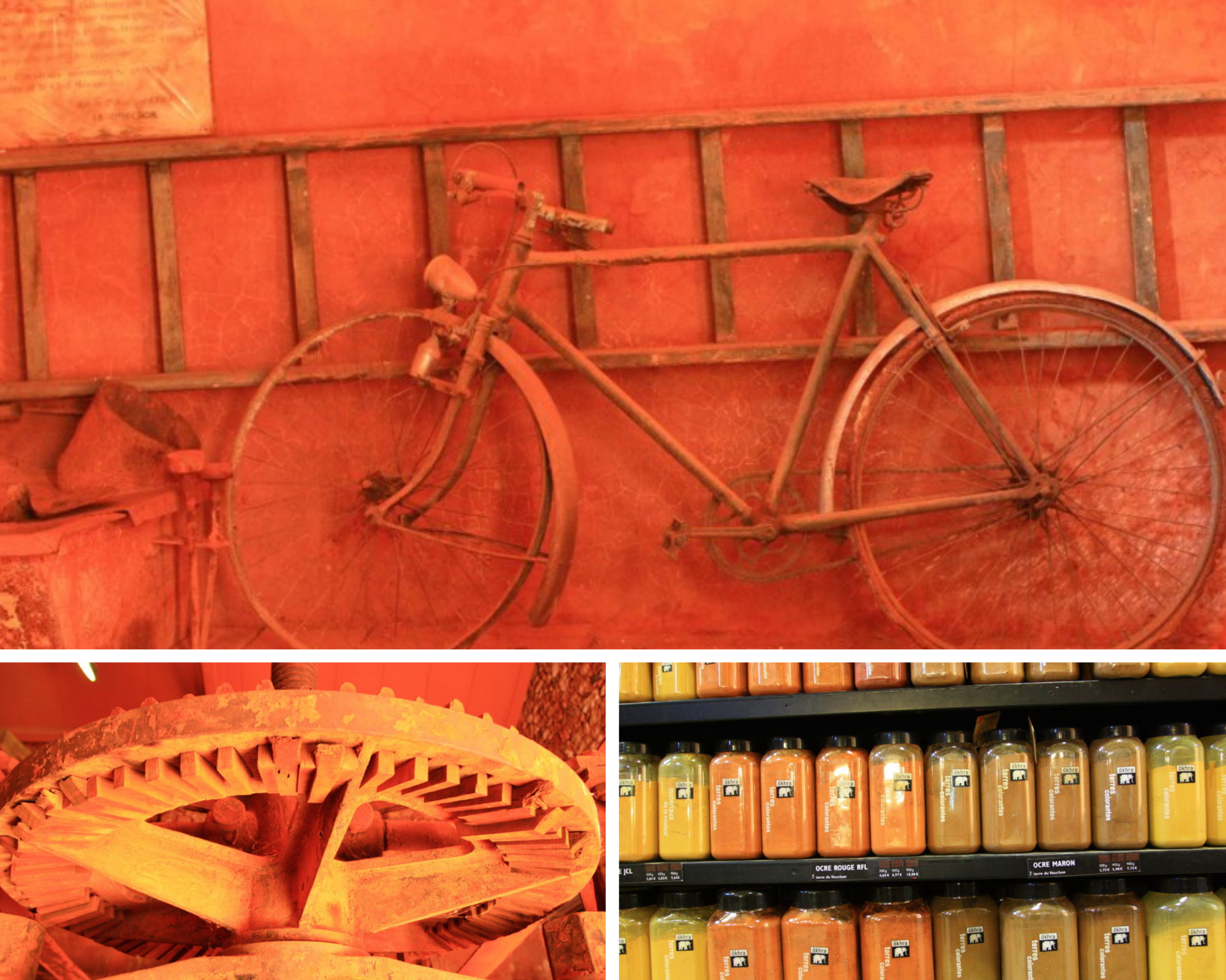 visit the ocher centre of Roussillon in Provence