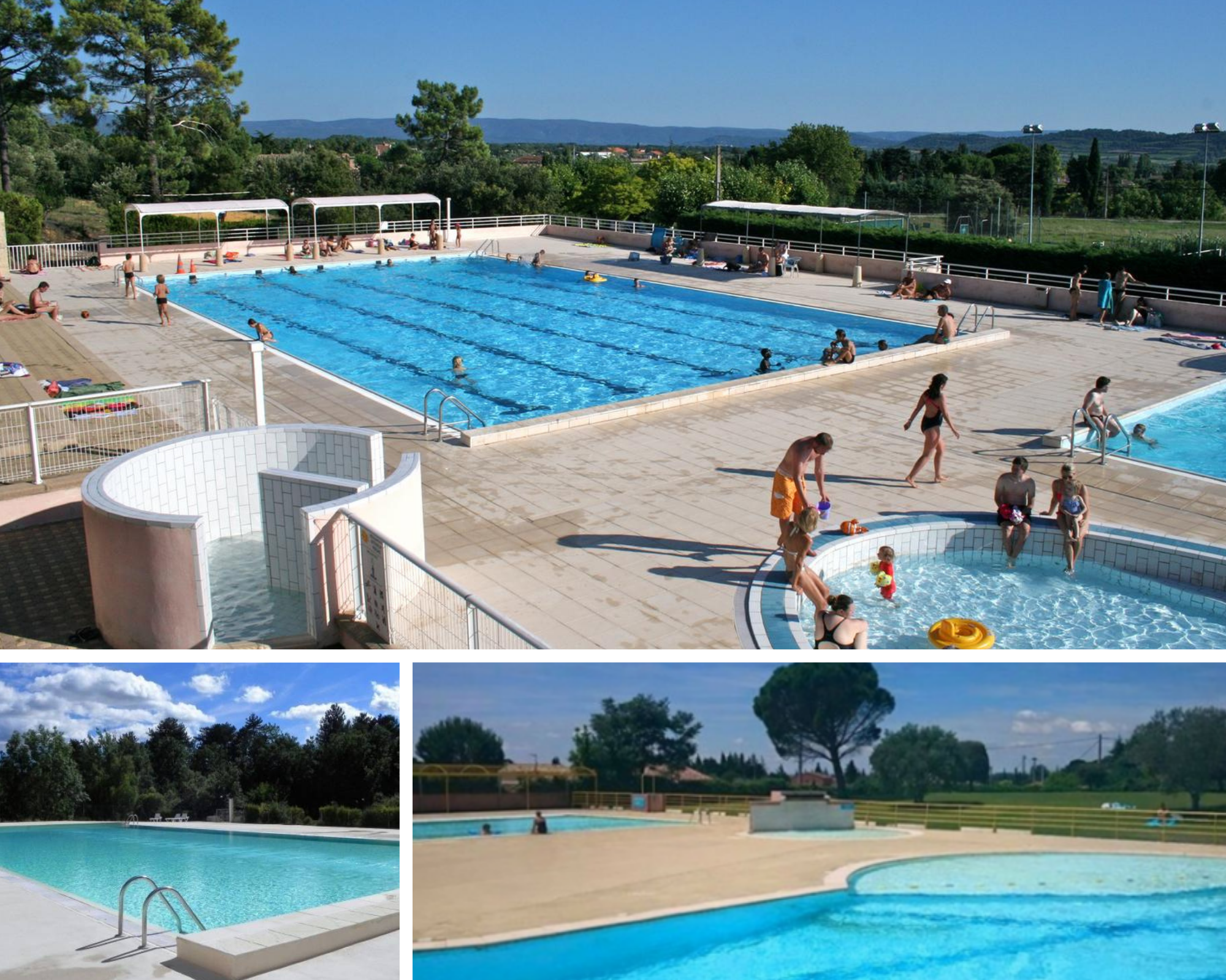 Swimming pool areas near Mont Ventoux, Bédoin, Carpentras, Ville sur Auzon, Beaumes de Venise...