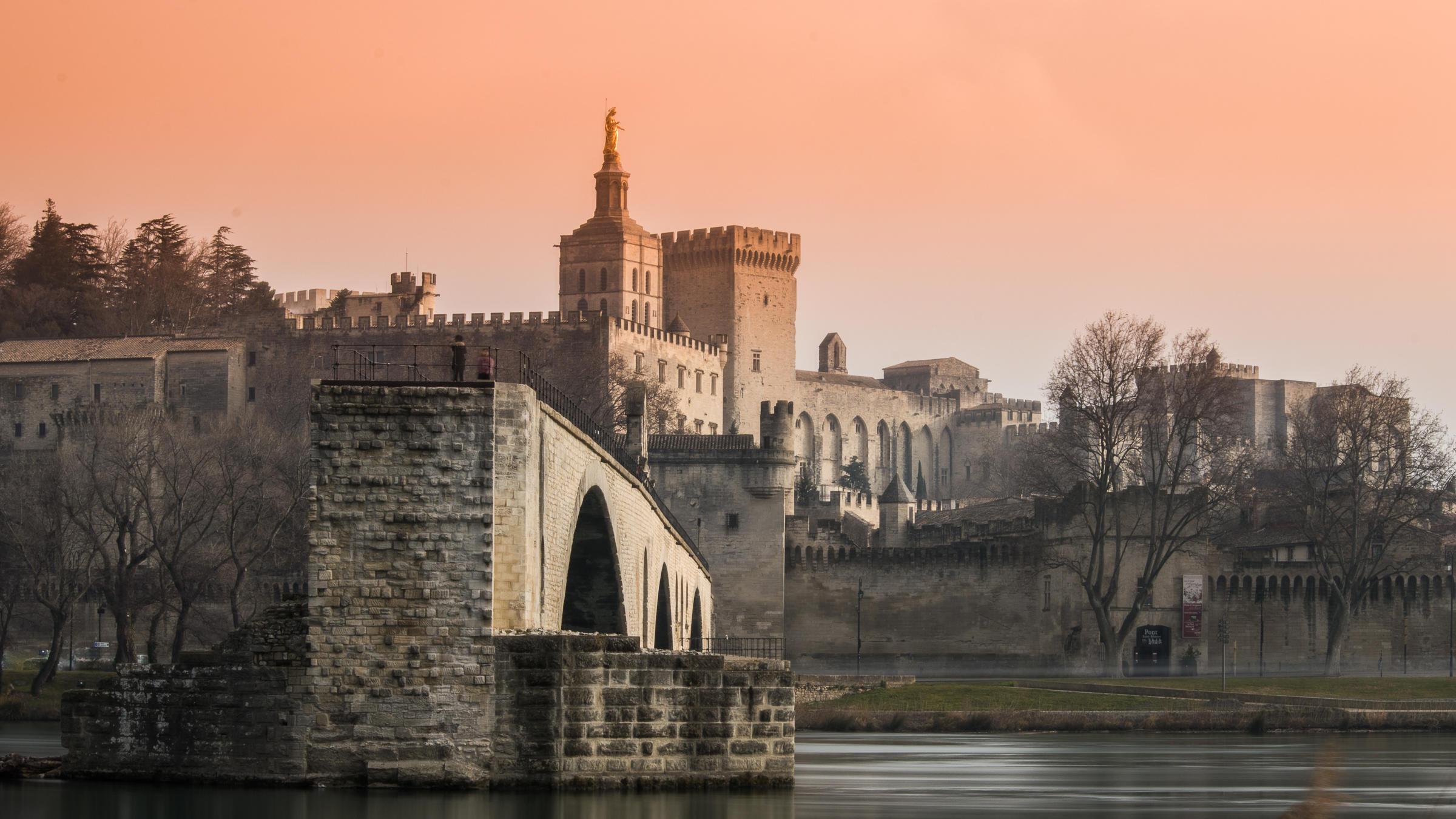 Avignon provençal town & capital of Vaucluse and Côte du Rhône