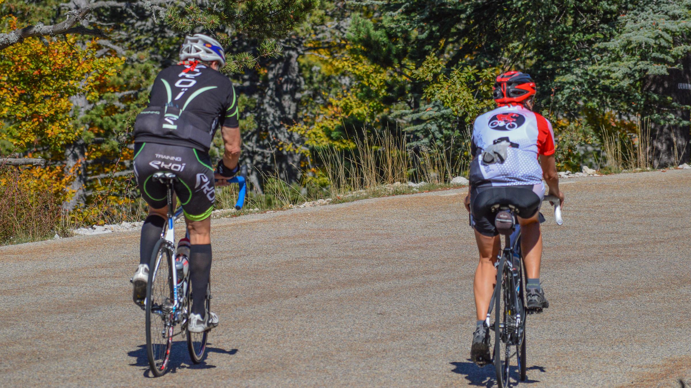 A vélo et VTT...