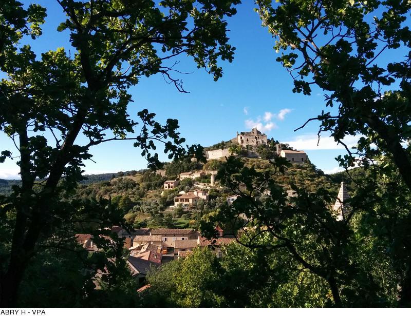 Entrechaux, provençal village near the Mont Ventoux